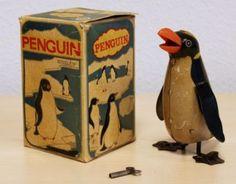 Blikken opwind Pinguin in doos !! - jaren 40