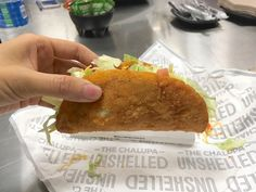 "Taco Bell has found in the test that the vegetables somehow manage to give the meaty, deep-fried chalupa a ""health halo"" in the eyes of consumers. ""We were getting feedback like, 'It's so healthy. It's so fresh,'"" said Garcia. ""That really surprised us because it's fried chicken."" 
