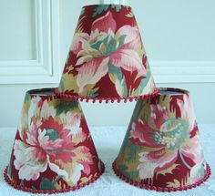 A 1900's antique French fabric candle lampshade 11 x 13 cm