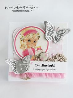 scrapfantazje, cute card, birthday card for girl