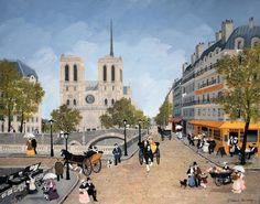 Notre-Dame depuis la plaza Saint-Michel. FABIENNE DELACROIX