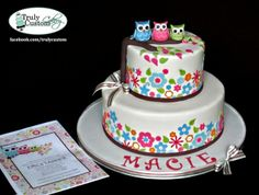 Owl Baby Shower Cakes Ideas And Picture  cakepins.com