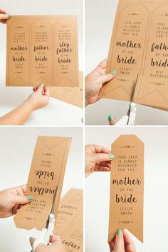 How to make your own wedding ceremony chair reserved signs, with free printables! #weddingdecorations