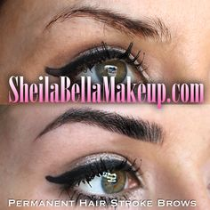 Have you always wanted to sport gorgeous brows with minimal effort? Well, let our trained technicians at Sheila Bella take care of that for you! They take the guess-work out of your hands, and give you beautiful semi-permanent brows that last 3-5 years. They're so natural-looking, no one will believe it's a tattoo! Our services are HIGH ON DEMAND! We have people travelling both far and wide to get their Sheila Bella Brows! Don't waste another minute--SCHEDULE YOUR APPOINTMENT NOW! grin emoticon Semi Permanent, Permanent Makeup, Eye Brows, Eyebrow Tattoo, Emoticon, Natural Looks, Eye Shadow, 5 Years, Makeup Tips