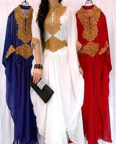 love the blue and red one Muslim Women Fashion, Islamic Fashion, Eid Outfits, Indian Outfits, Indian Clothes, Eid Dresses, Modest Dresses, Hijab Fashion, Fashion Dresses