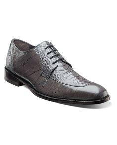 e2ecd84e21e These Stacy Adams dress shoes sports ostrich leg and eel skin printed  leather. The combo