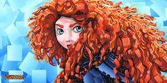 Trevor Carlton-The Fire Within - From Disney Brave Godard Art, First Disney Princess, Princess Merida, Canvas Frame, Canvas Art, Canvas Size, Disney Fine Art, Disney Treasures, Dramatic Arts