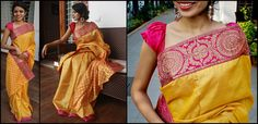 Indian Attire, Indian Wear, Indian Dresses, Indian Outfits, Indian Clothes, South Silk Sarees, Indian Look, Indian Style, Sari Blouse Designs