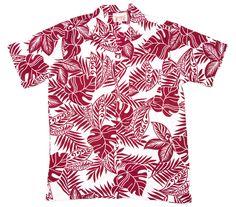 red two tone rainforest hawaiian shirt