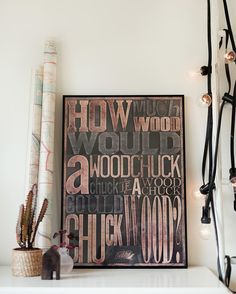 Typographic poster by Danny Sivermalm