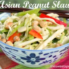AsianPeanutSlaw NTD: sub peanut for other nut (ie. cashews, pecans)