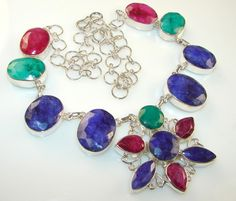 Multicolor Passion Multigem Sterling Silver necklace price: $162.75
