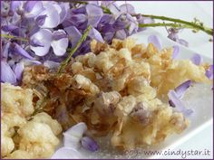 Wisteria flower fritters