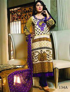 Latest Salwar Suits, Pakistani Suits, Chiffon, Sari, Pure Products, Purple, Navajo, Dresses, Fashion