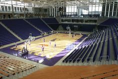 McLeod Center, Home of the University of Northern Iowa Men's and Women's Basketball Teams and the UNI Volleyball Team. Women's Basketball, Volleyball Team, Football Stadiums, College Football, University Of Northern Iowa, Cedar Falls, Construction Business, Black Hawk, Iowa State