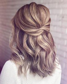 """Outstanding """"wedding hairstyles for long hair"""" detail is available on our site. Have a look and you wont be sorry you did. Bridesmaid Hairstyles Half Up Half Down, Bridesmaid Hair Half Up Medium, Half Up Half Down Short Hair, Bridesmaid Hair Down, Bridesmaid Hair Tutorial, Half Up Wedding Hair, Short Hair Bridesmaid Hairstyles, Sparkly Bridesmaids, Bridesmaid Dresses"""
