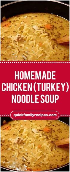 Homemade Chicken (turkey) Noodle Soup #homemade #chicken #noodle #soup #easyrecipe #delicious #foodlover #homecooking #cooking #cookingtips