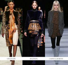 Fall Winter 2014 Fashion Trends Leopard print Givenchy Balmain Saint Laurent