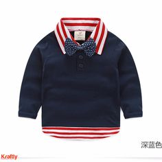 Get your baby boy ready for those formal ocassions with this cute bow collar t-shirt. #kraftly