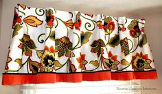 Pleated-valance-with-cording...reference for style only -  guest bedroom