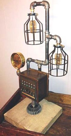 1000 images about steampunk lamps on pinterest for Pipe lamp plans