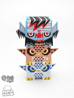 Paper totem by chobopop