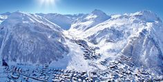 Discover Val d'Isère, a ski resort in Savoie in the Alps. Enjoy a huge ski area and the charm of a typical Savoyard village. Val D'isère, Destinations, Ski Vacation, Ski Holidays, French Alps, Skiing, Places To Go, Snow, Winter