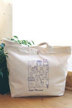 Sac cabas super marraine à personnaliser en choisissant la couleur de l'impression. Coton Biologique, Paper Shopping Bag, Reusable Tote Bags, Impression, France, Natural, Cotton Canvas, Child Art, Duffel Bag