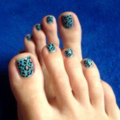 cheetah print nail art design,