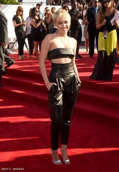 Miley Cyrus in an Alexandre Vauthier Haute Couture top and pants
