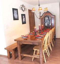 diy- farmhouse table...my dream is to have a huge farmhouse table in my dining room...anna white gives you a free PDF of how to make your own!!
