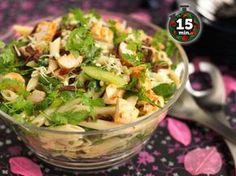 Sisilialainen kana-pastasalaatti Salad Recipes, Healthy Recipes, Sweet And Salty, Bon Appetit, Pasta Salad, Potato Salad, Easy Meals, Food And Drink, Dinner