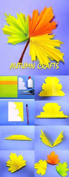 Autumn crafts for preschoolers basteln Fall Crafts For Toddlers, Easy Fall Crafts, Toddler Crafts, Fun Crafts, Arts And Crafts, Simple Crafts, Leaf Crafts, Autumn Art, Autumn Ideas