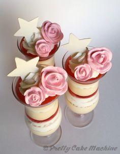 Recipe: (Steven Universe Dessert Series, Pt. 7) Rose's Quartz's Rosé and Peach Parfait   Pretty Cake Machine
