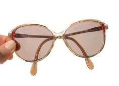 80s Glasses BerDel Designer with Large Prescription by RibbonsEdge