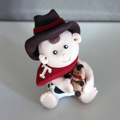 Custom Cowboy Cake Toppers for Birthday or Baby Shower by carlyace, $16.95