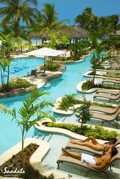 Spend your days lounging by our lagoon side pool at Sandals Negril in Jamaica.