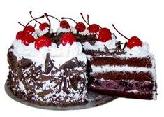 If you ordered a Black Forest Cake, you'd get a chocolate layer cake filled with Kirsch-flavored whipped cream and sour Morello cherries, topped with chocolate curls? German Black Forest Cake, Birthday Cake With Flowers, Cake Online, Gift Cake, Happy Birthday Cakes, Birthday Cookies, New Cake, Indian Sweets, Indonesian Food