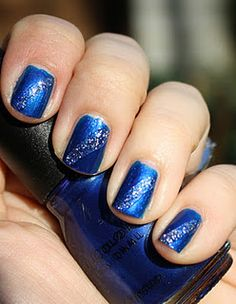 from Polish Pauper, so cute blue with sparkly stripes