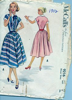 Vintage 1950's Women's Dress PatternMcCall's by AtomicRegeneration, $13.68
