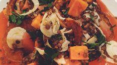 Pompoen-papaya salade