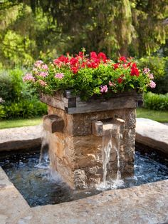 This Fountain planter from @National Home Gardening Club is such a unique garden planter for bulbs and blooms!