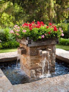 fuente jardinera.