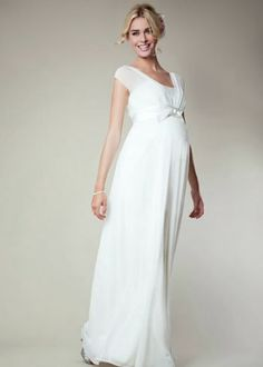 Grandiosos Vestidos de Novias para embarazadas