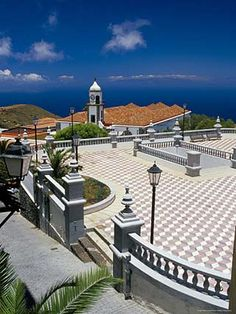 Valverde Main Church and Square, Valverde, El Hierro, Canary Islands, Spain, Atlantic
