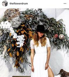 Weddings Flower Arrangements : Floral installation for the event in Sydney. Photo by Debbie Arc Floral, Floral Arch, Floral Wall, Floral Style, Floral Wedding, Wedding Flowers, Wedding Decor, Flower Drum, Flower Installation