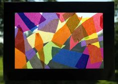 'Stained Glass' window art project