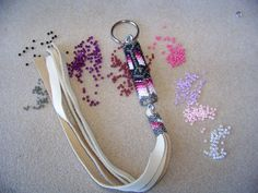 Native Made Beaded keychain by NavajoRainbowDesigns on Etsy