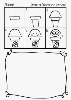 FREE Funny Ice Cream Directed Drawing
