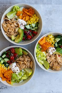 Healthy Salad Recipes, Raw Food Recipes, Dinner Recipes, Pulled Chicken, Pulled Pork, Healthy Breakfast Snacks, Healthy Eating, A Food, Food And Drink